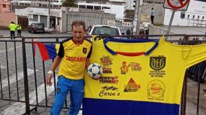 Cascarita Loor estará en la parte de posterior del estadio Rodrigo Paz para el partido Ecuador vs Perú.