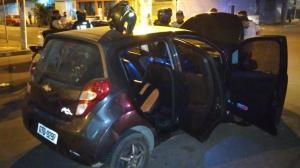 Este carro fue abordado por una pareja a la que luego secuestraron.