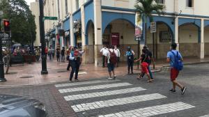 Peatones en Guayaquil