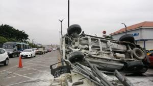 Se registró un accidente de tránsito en Guayaquil.