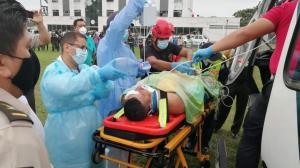 El estado del policía macheteado en Quevedo es crítico, de sobrevivir quedará parapléjico