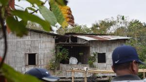 En esta vivienda fue degollada Johanna Raquel Pillasahua Bravo.