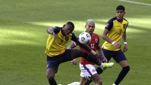 Ecuador y Chile empatan en el primer tiempo.