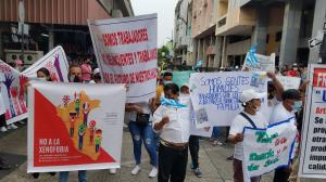 Cerraron la calle Ayacucho, en el centro de Guayaquil