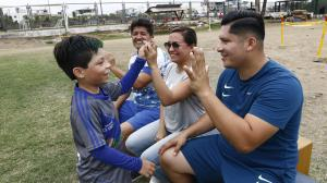 Thiago Cortez tiene 8 años y es jugador del Emelec de Milagro.