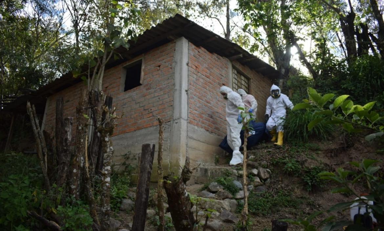 Franklin Merino, de aproximadamente 45 años, fue hallado en una casa abandonada.