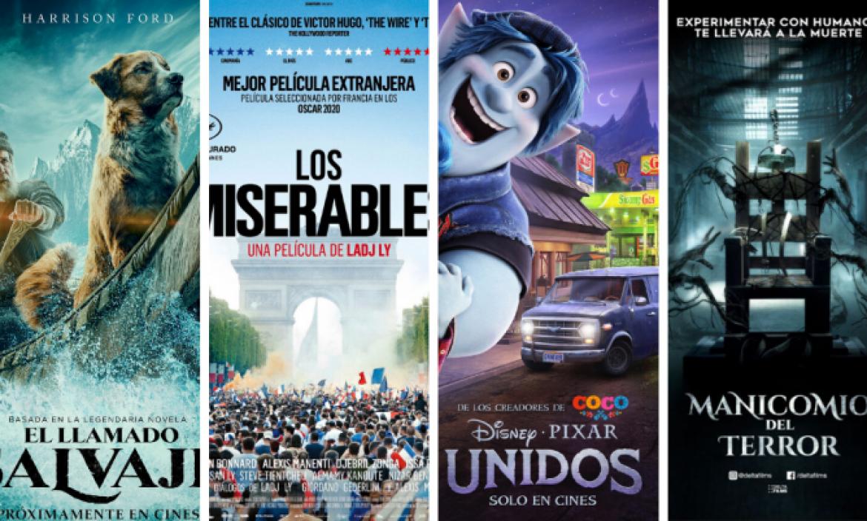 Las cuatro películas pautadas para la primera semana de apertura.