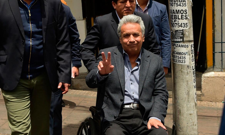 Ecuador's President Lenin Moreno visits the Comptroller General's Off
