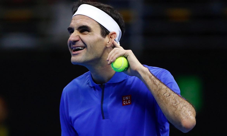 Partido de exhibición entre Federer y Zverev en Santiago de Chile