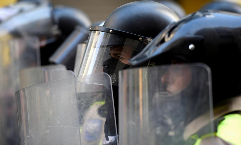 Protests against Ecuador's President Lenin Moreno's austerity measures, in Guayaquil