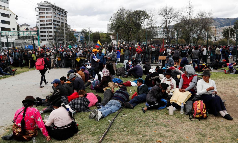 Protests against Ecuador's President Lenin Moreno's austerity measures in Quito