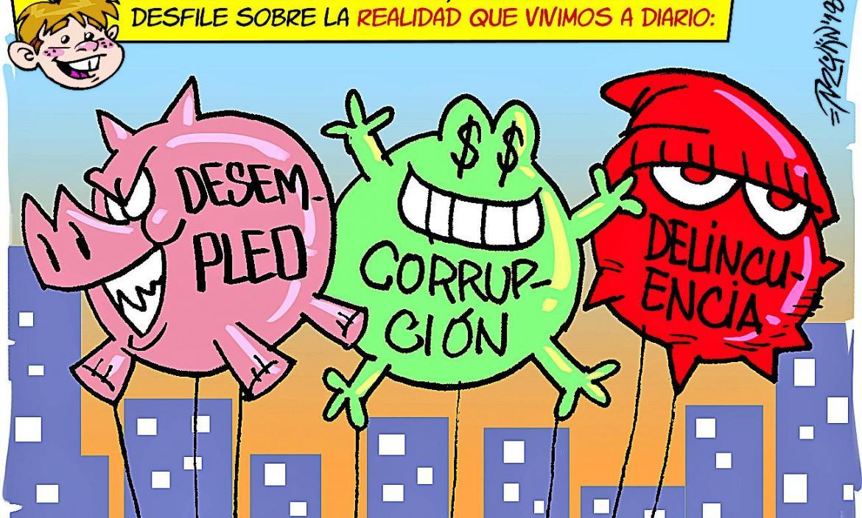 Imagen el antidesfile de globos domingo