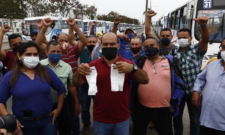 Protesta de buseteros