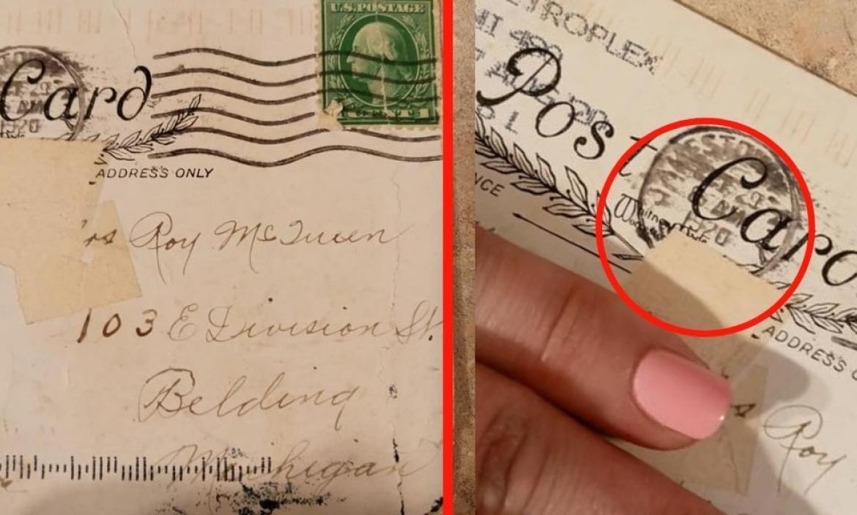 Imágenes de la postal que llegó a su destino un siglo atrás.