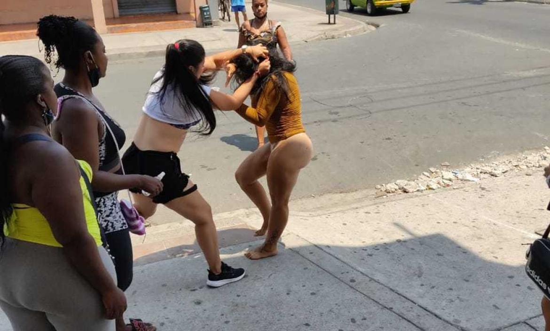 pelea entre sexoservidoras