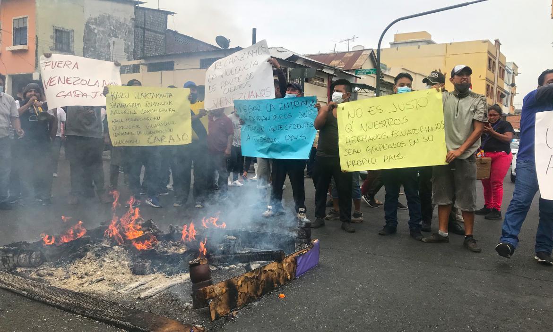 Comerciantes manifestaciones