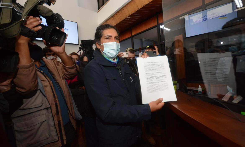 El candidato presidencial, Yaku Pérez, presentó el recurso ante el TCE el 1 de marzo pasado.