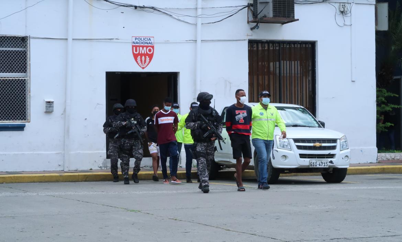 Los sospechosos del secuestro del extranjero fueron presentados por la Policía.