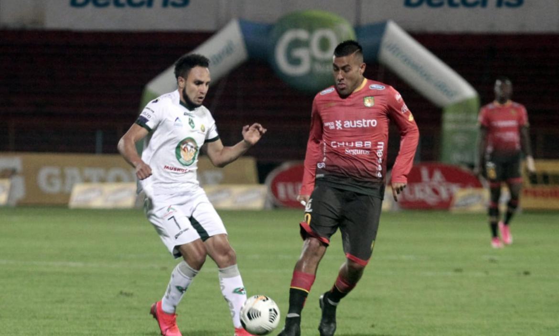 Mushc Runa y Deportivo Cuenca se enfrentaron este 14 de mayo.