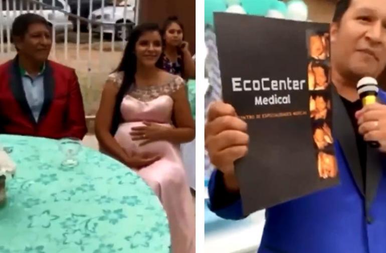 Miguel expone a su esposa en frente de todos los invitados.
