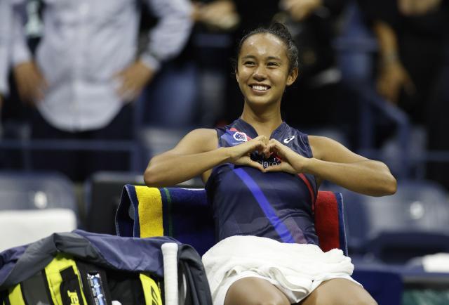 Leylah Fernández ganó la 'copa' del corazón